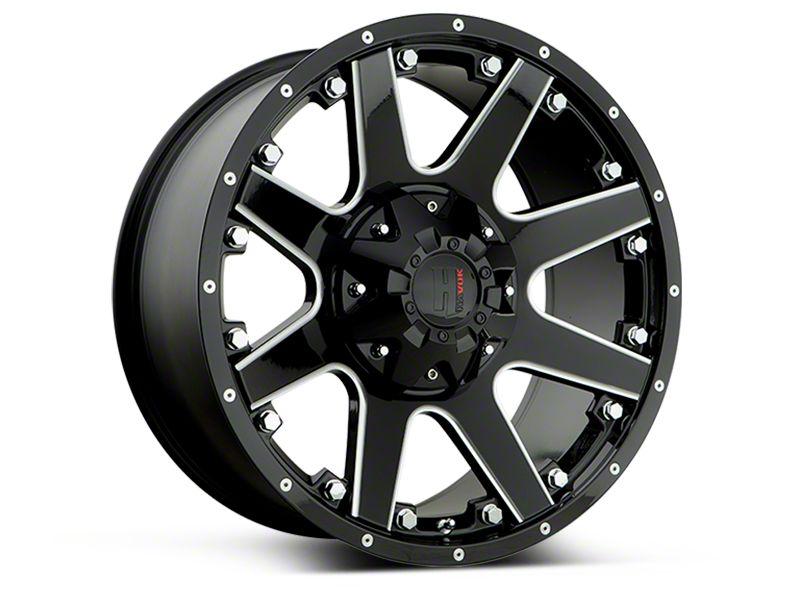 Havok Off-Road H102 Black Milled 6-Lug Wheel - 17x9 (09-14 F-150)
