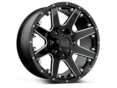 Havok Off-Road H102 Black Milled 6-Lug Wheel - 17x9 (15-18 F-150)