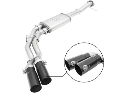 AFE Rebel Series 3 in. to 2.5 in. Dual Exhaust System w/ Black Tips - Middle Side Exit (09-10 5.4L F-150, Excluding Raptor)