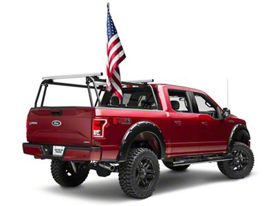 Leitner Designs Bed Rack Flag Pole Kit (97-19 F-150)