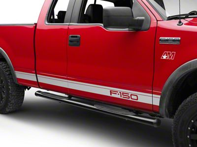 Silver Rocker Stripes w/ F-150 Logo (04-08 F-150)