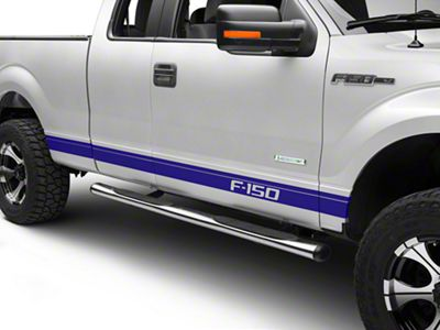 Blue Rocker Stripes w/ F-150 Logo (09-14 F-150)