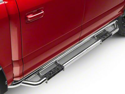 RBP RX-3 Cab Length Side Step Bars - Stainless Steel (15-18 F-150 SuperCab, SuperCrew)