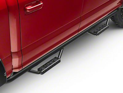 RBP RX-7 Wheel to Wheel Side Step Bars - Black (15-19 F-150 SuperCab w/ 6.5 ft. Bed, SuperCrew)