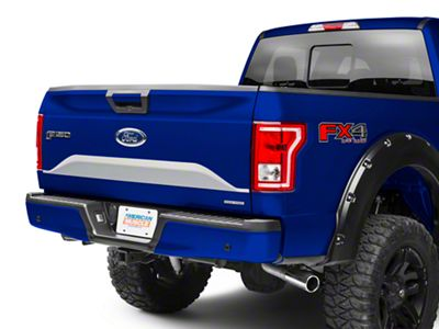 Silver Lower Tailgate Panel Accent Decal (15-17 F-150)