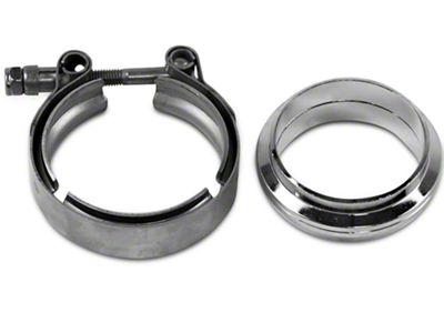 GMS 2.5 in. Mating Flat Flange w/ V-Band Exhaust Clamp - Mild Steel (97-19 F-150)