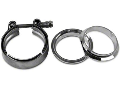 GMS 3 in. Mating Male to Female Interlocking Flange w/ V-Band Exhaust Clamp - Mild Steel (97-19 F-150)