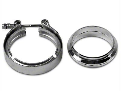 GMS 3 in. Mating Flat Flange w/ V-Band Exhaust Clamp - Stainless Steel (97-19 F-150)