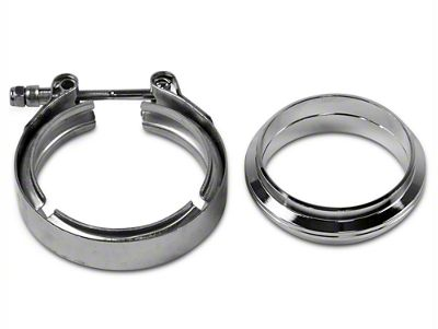 GMS 3 in. Mating Flat Flange w/ V-Band Exhaust Clamp - Mild Steel (97-19 F-150)