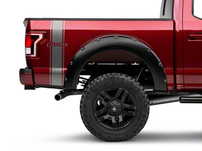 Silver Rear Vertical Stripe w/ F-150 Logo (15-18 F-150)
