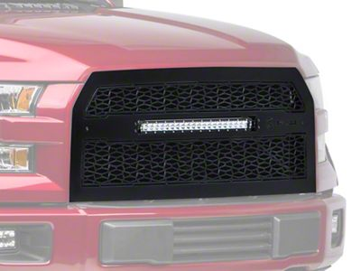T-REX ZROADZ Series Upper Replacement Grille w/ 20 in. Slim LED Light Bar (15-17 F-150, Excluding Raptor)