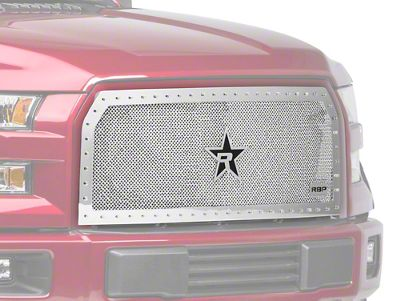 RBP RX-5 HALO Series Studded Frame Upper Overlay Grille Insert - Chrome (15-17 F-150 XLT; 2017 F-150 XL w/ STX Package)