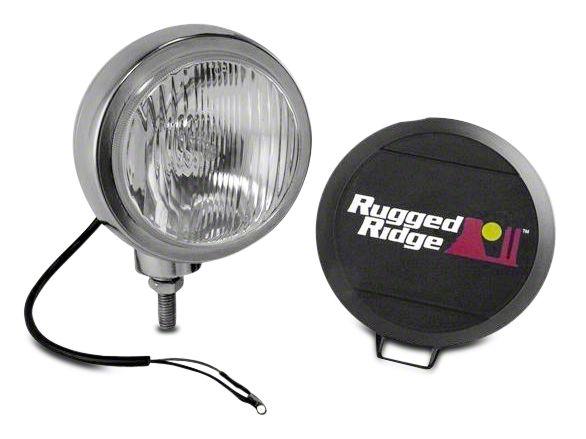 Rugged Ridge 5 in. Round HID Off-Road Fog Light - Single (97-19 F-150)