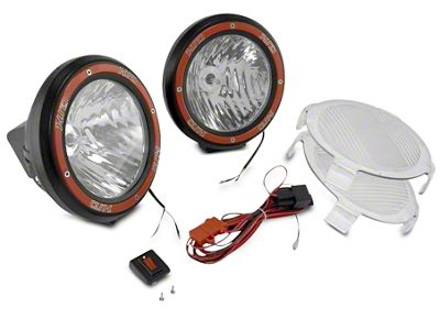 Rugged Ridge 5 in. Round HID Off-Road Fog Lights w/ Black Composite Housings - Pair (97-19 F-150)