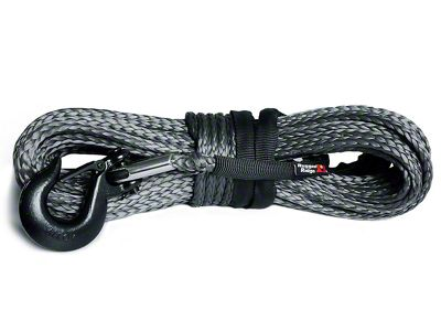 Rugged Ridge 23/64 in. x 100 ft. Dark Gray Synthetic Winch Line - 16,550 lbs.