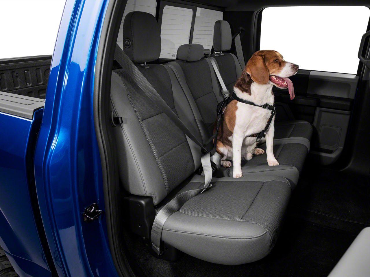 Kurgo Extended Strength Tru-Fit Dog Harness w/ Seat Belt Tether - Black (97-18 F-150)