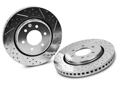 Baer Sport Drilled & Slotted 6-Lug Rotors - Rear Pair (04-19 2WD/4WD F-150)