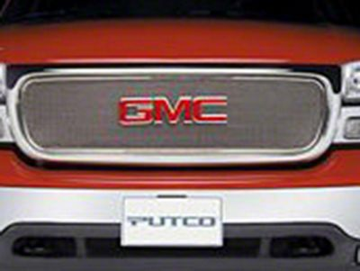 Putco Liquid Mesh Upper Overlay Grille w/ Emblem Delete - Polished (99-03 F-150 w/ OE Honeycomb Style Grille)