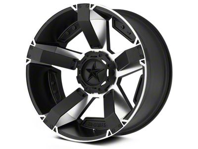 Rockstar XD811 RS2 Black Machined 6-Lug Wheel - 22x9.5 (04-19 F-150)