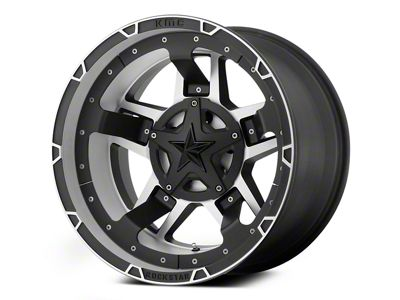 Rockstar XD827 RS3 Matte Black Machined 6-Lug Wheel - 22x10 (04-19 F-150)