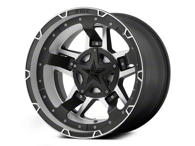 Rockstar XD827 RS3 Matte Black Machined 6-Lug Wheel - 22x12 (04-19 F-150)