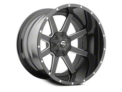 Fuel Wheels Maverick Black Milled 6-Lug Wheel - 22x12 (04-18 F-150)