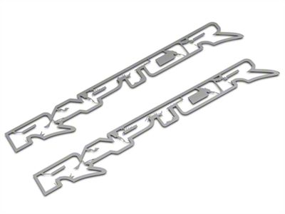 ACC Polished Frame Style Raptor Emblems (10-14 F-150 Raptor)