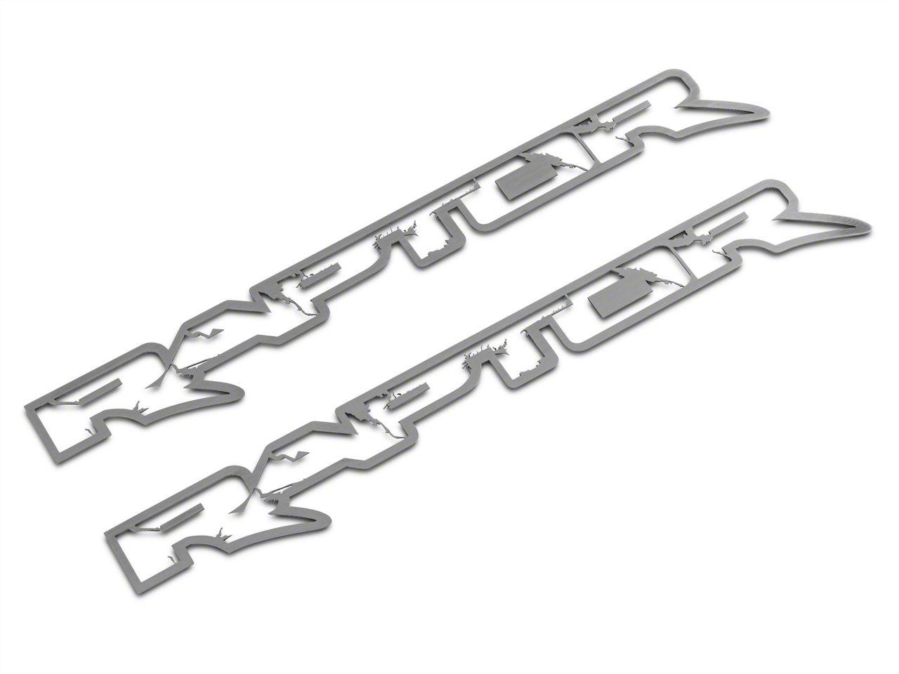 ACC Brushed Frame Style Raptor Emblems (10-14 F-150 Raptor)