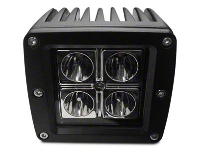 DV8 Off-Road 3 in. Chrome Series LED Cube Light - Spot Beam