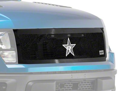 RBP RX-2 Series Smooth Frame Upper Replacement Grille - Black (10-14 F-150 Raptor)