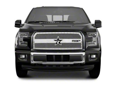RBP RX-3 Series Studded Frame Upper Replacement Grille - Chrome (15-17 F-150, Excluding Raptor)