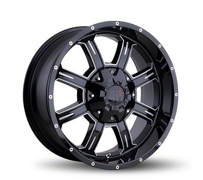 Havok Off-Road H101 Black Milled 6-Lug Wheel - 17x9 (04-18 F-150)