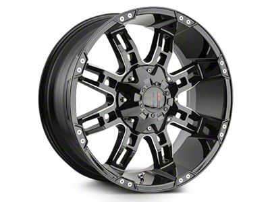 Havok Off-Road H103 Black Milled 6-Lug Wheel - 22x11 (04-19 F-150)