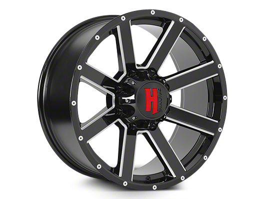 Havok Off-Road H107 Black Milled 6-Lug Wheel - 22x11 (04-19 F-150)