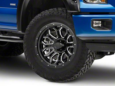 Havok Off-Road H108 Black Milled 6-Lug Wheel - 20x10 (04-19 F-150)