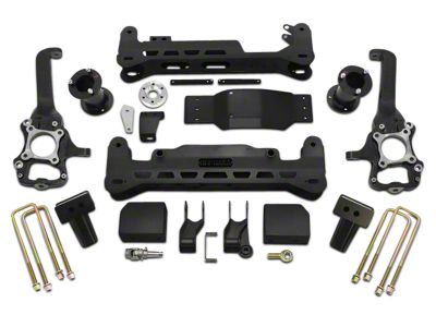 ReadyLIFT 7 in. Off Road Lift Kit w/o Shocks - Black (15-18 4WD F-150, Excluding Raptor)