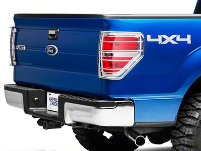 Black Horse Off Road Tail Light Guards - Stainless Steel (09-14 F-150 Styleside)