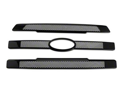 Black Horse Off Road Mesh Upper Overlay Grille - Black (15-17 F-150 Lariat)