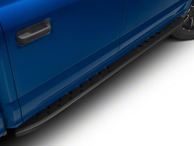 Black Horse Off Road Shark Running Boards - Black (15-18 F-150 SuperCab, SuperCrew)