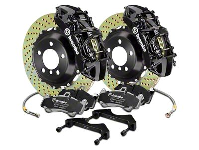 Brembo GT Series 6-Piston Front Brake Kit - 15 in. Cross Drilled Rotors - Black (17-19 F-150 Raptor)