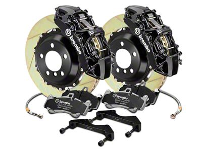 Brembo GT Series 6-Piston Front Brake Kit - 15 in. Type 1 Slotted Rotors - Black (17-19 F-150 Raptor)