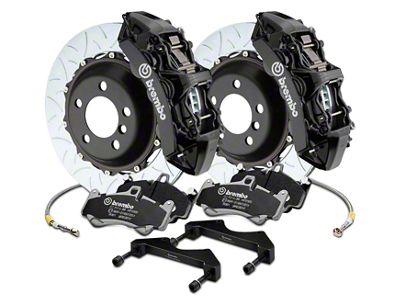 Brembo GT Series 6-Piston Front Brake Kit - 15 in. Type 3 Slotted Rotors - Black (17-19 F-150 Raptor)
