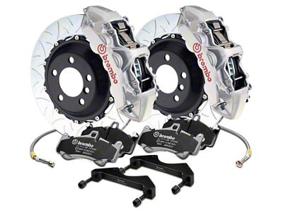 Brembo GT Series 6-Piston Front Brake Kit - 15 in. Type 3 Slotted Rotors - Silver (17-19 F-150 Raptor)