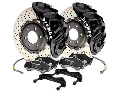 Brembo GT Series 8-Piston Front Brake Kit - 16.2 in. Cross Drilled Rotors - Black (17-19 F-150 Raptor)