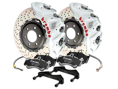 Brembo GT Series 8-Piston Front Brake Kit - 16.2 in. Cross Drilled Rotors - White (17-19 F-150 Raptor)