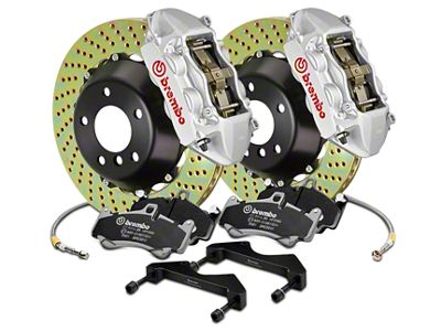 Brembo GT Series 4-Piston Rear Brake Kit - 15 in. Cross Drilled Rotors - Silver (17-19 F-150 Raptor)