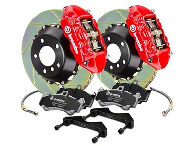 Brembo GT Series 4-Piston Rear Brake Kit - 15 in. Type 1 Slotted Rotors - Red (17-19 F-150 Raptor)