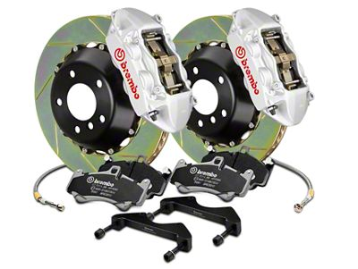 Brembo GT Series 4-Piston Rear Brake Kit - 15 in. Type 1 Slotted Rotors - Silver (17-19 F-150 Raptor)