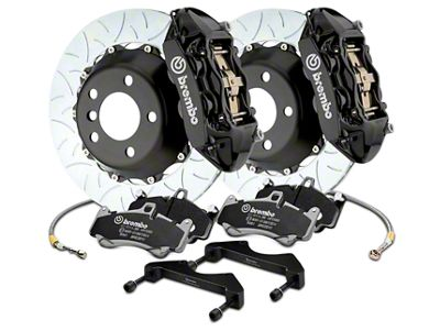 Brembo GT Series 4-Piston Rear Brake Kit - 15 in. Type 3 Slotted Rotors - Black (17-19 F-150 Raptor)