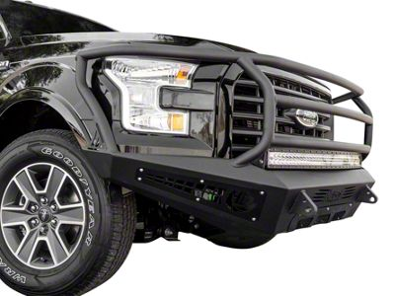 Addictive Desert Designs HoneyBadger Rancher Front Bumper w/ Intercooler Vents (15-17 F-150, Excluding Raptor)